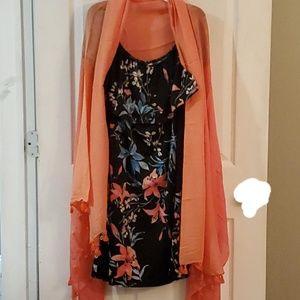 Off the shoulder dress/scarf